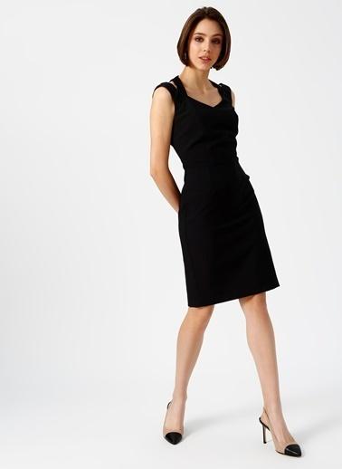 Random Askılı Kısa Elbise Siyah